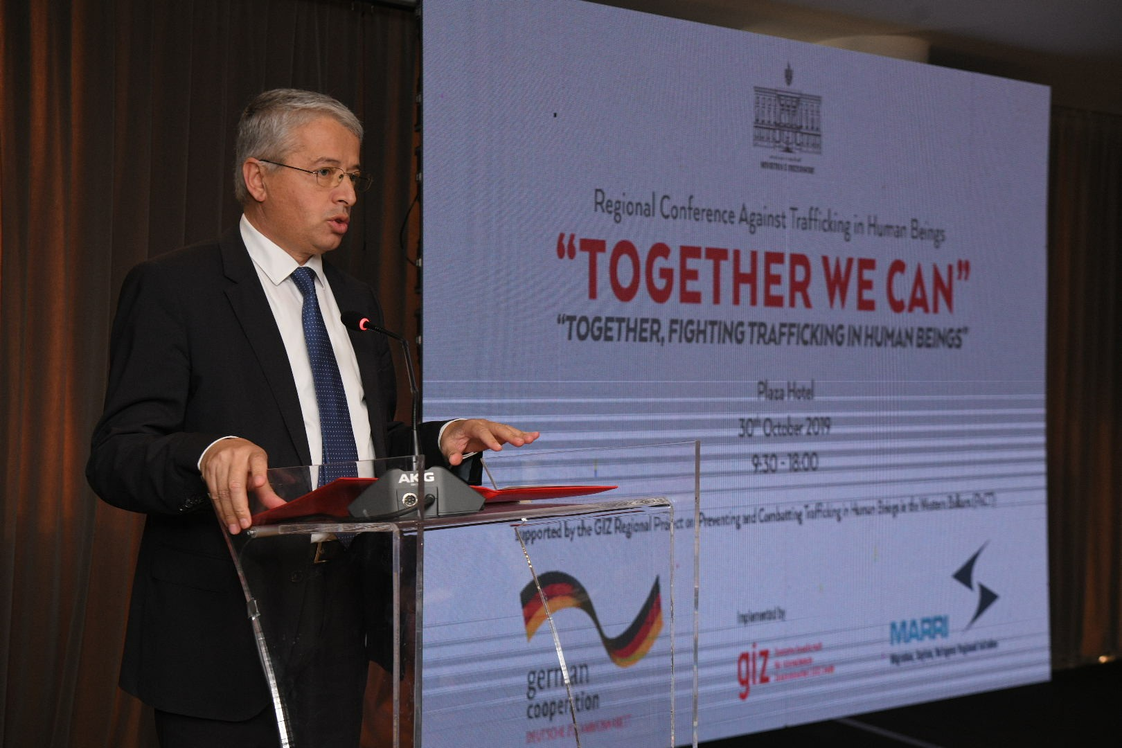 "30 October 2019 – Regional Conference Against Trafficking in Human Beings – ""Together we can – Together, fighting Trafficking in Human Beings"""