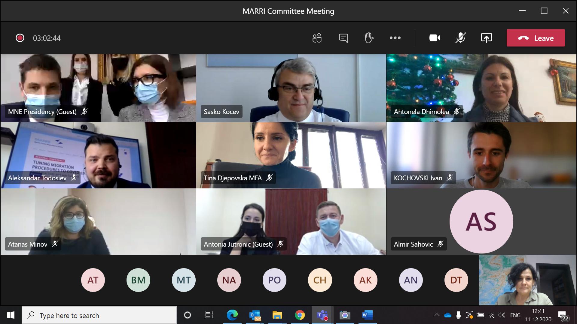 11 December 2020 - MARRI Committee Meeting